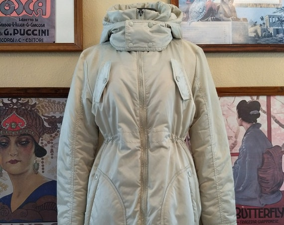 Gorgeous Diesel Pearl White Puffer Coat,size Small.