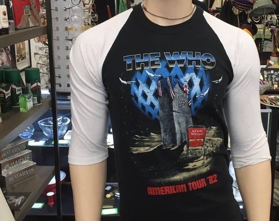 Vintage The Who AmericanTour 1982 Concert Tee T Shirt