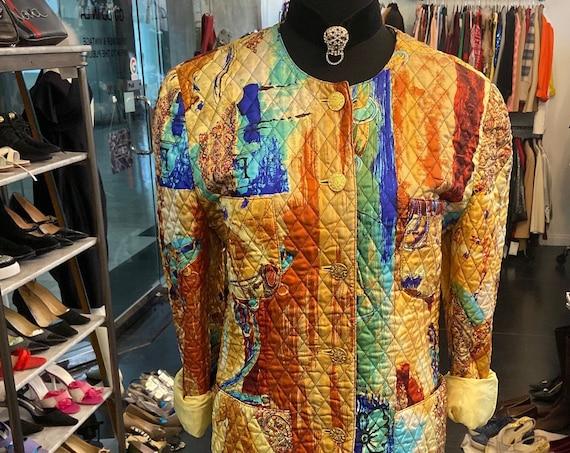 Gorgeous 1990s Louis Feraud Silk Suit