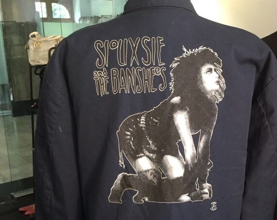 Vintage 1980s Siouxsie and the Banshees Red Kap Men's Mechanic's Jacket
