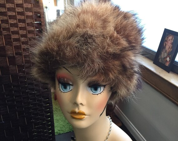 Vintage 1960s Beaver Fur Hat with Original Tags from Barneys
