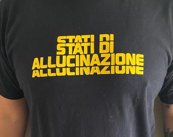 Black Stati di Allucinazione(Altered States) Tee Sz XL