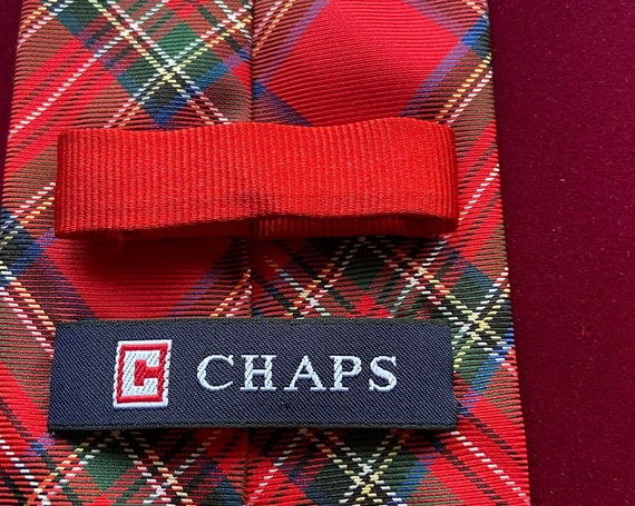 Red Plaid Ralph Lauren Chaps Tie