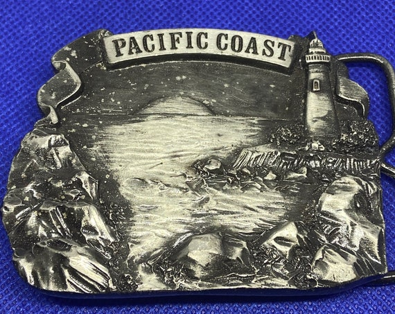 1978 Bergamot Brass Works Pacific Coast Belt Buckle Made in USA