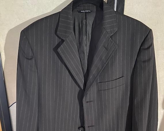 Men's Dolce & Gabbana Pinstriped Blazer IT Size 48 (US 38)