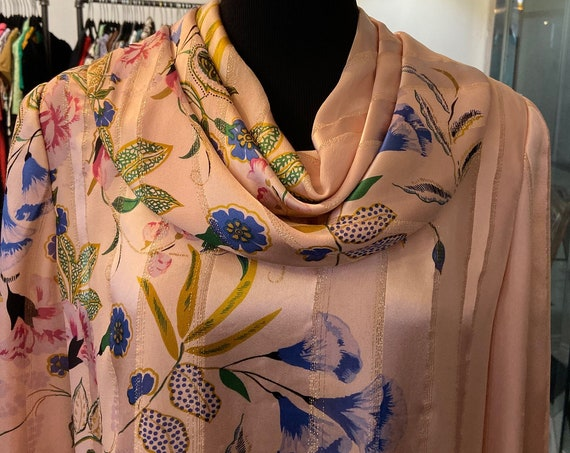 Lovely Neiman Marcus Pink Silk and Satin Vintage 1980s Dress