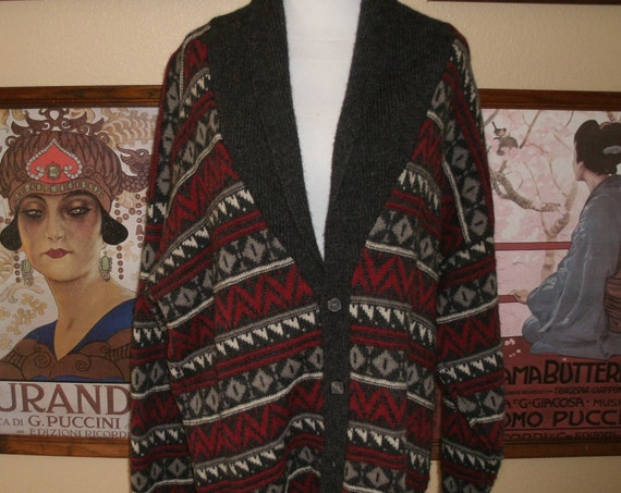 Beautiful Alan Paine Alpaca/Lambswool Cardigan,Made in England.