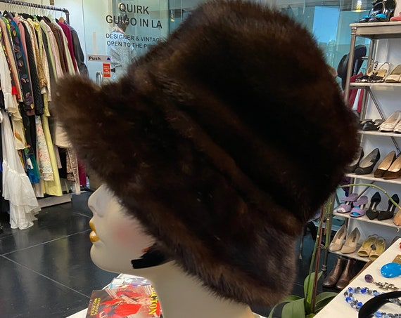 Gorgeous 1960s Mink Bucket Hat from Armand of Beverly Hills