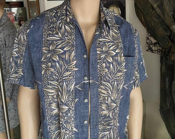 Men's Blue Hawaiian Shirt from Cook Street Honolulu