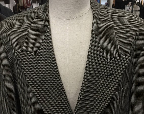 Vintage 1980s Pierre Cardin Double-Breasted Men's Blazer Sports Coat Sz 44