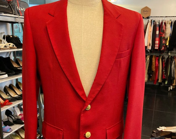 Handsome Red Blazer from Lord and Taylor's Alumni Shop Sz 42