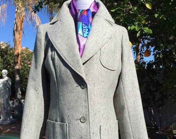 Vintage 60's Oleg Cassini Mod  Wool Blend Jacket and Vest.