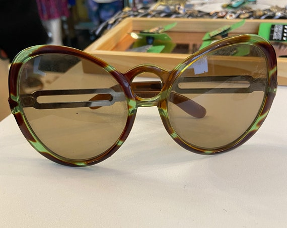 Fantastic Oversized Vintage 1970s Sunglasses Made in Greece