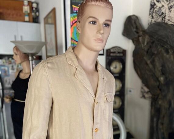 J Peterman Men's Safari Linen Blazer