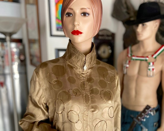 Fabulous Vintage Copper Silk and Bugle Beads Bomber from Mureli