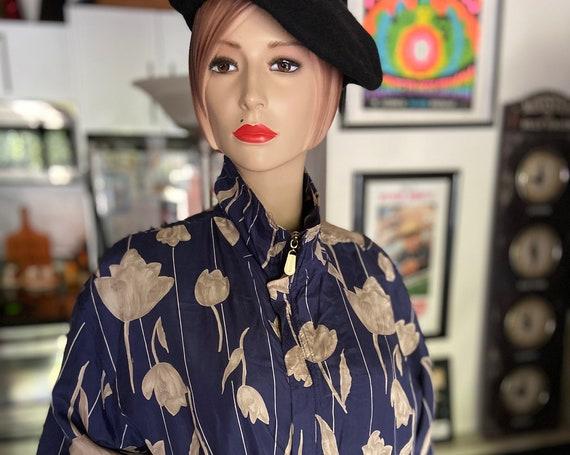 Flower Print 1990s Silk Bomber from Fuda International