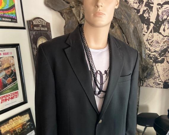 Men's Oscar De La Renta Black Blazer Size 44L