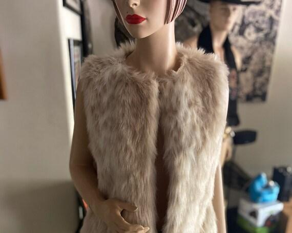 Foxy Faux Fur Betsey Johnson Leopard Print Vest   Size Small