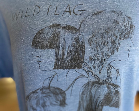 Buttery Soft Well-Loved Wild Flag Tee ft. Carrie Brownstein, Mary Timony, Rebecca Cole and Janet Weiss