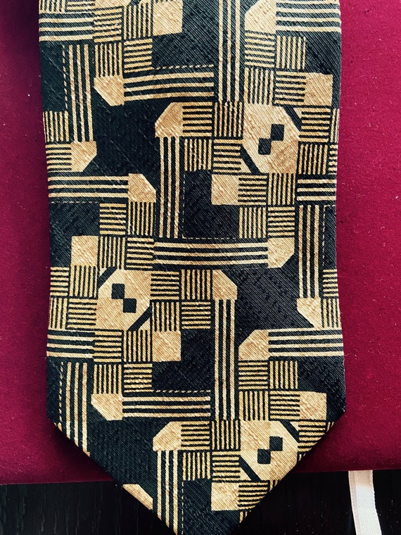 Vintage 1990s Patterned Tie From Miltons