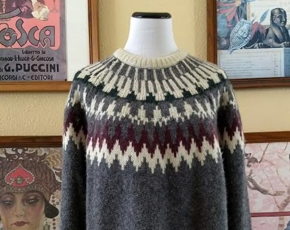 Awesome Pendleton 100% Virgin Wool Sweater,Scandinavian Design,Size XL.