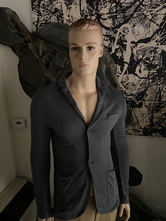 Men's Form-Fitted Grey Blazer Size Medium
