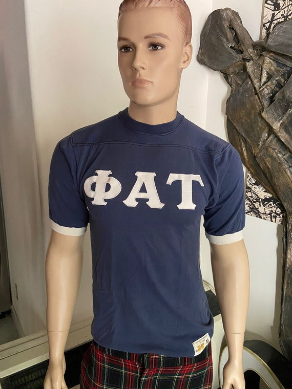 Awesome 1980s Phi Alpha Tau Football Jersey with Matt Personalized on Back