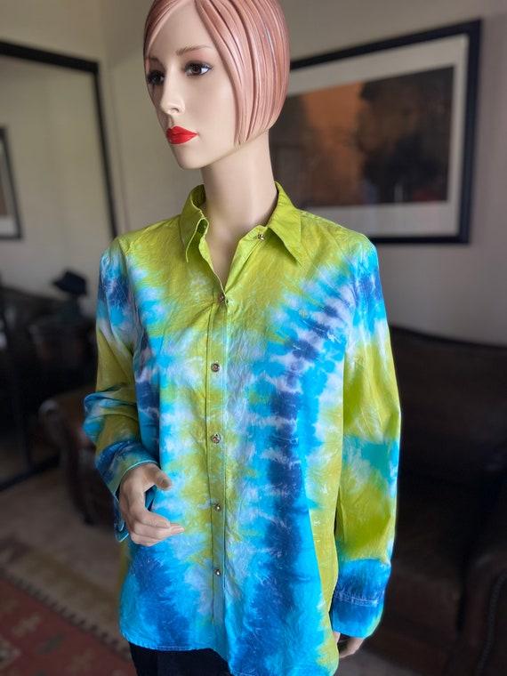 Women's Ralph Lauren Tie Dye Port de Gustavia Cotton Shirt