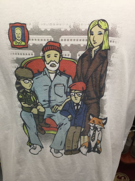 Wes Anderson Royal Tenenbaums Fantastic Mr Fox Rushmore Moonrise Kingdom Tee T Shirt Sz XL