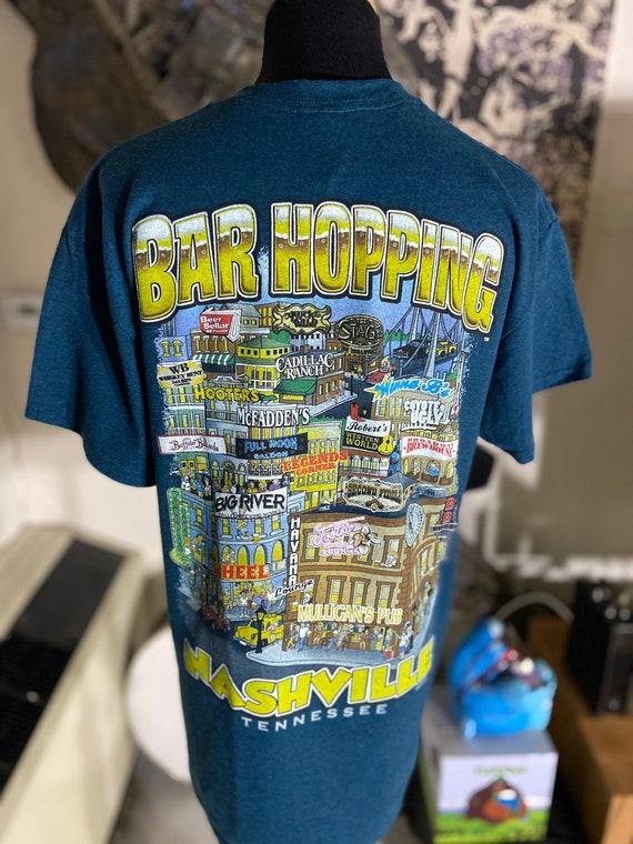 Cute Bar Hopping Nashville Tee T-Shirt Size Medium