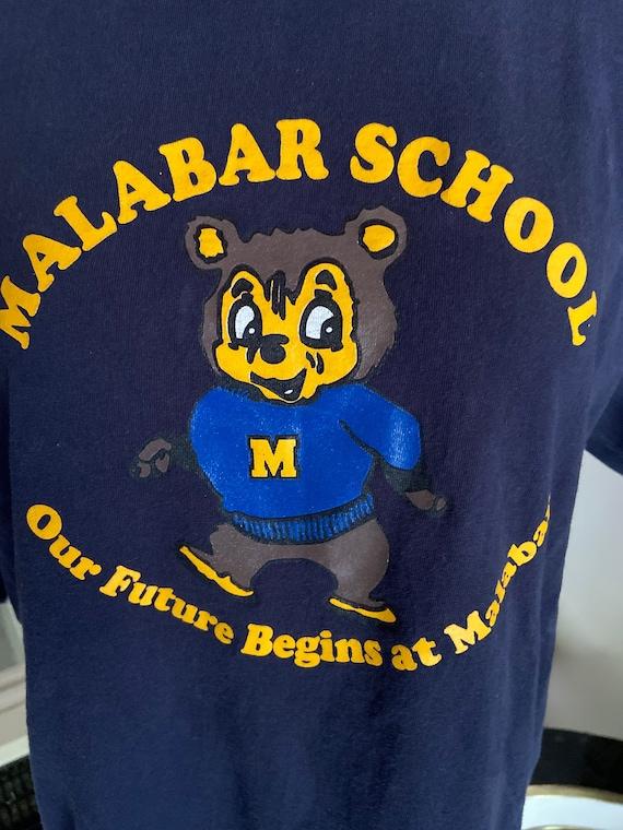 Cute Malabar School Bear Tee T-Shirt Size Medium