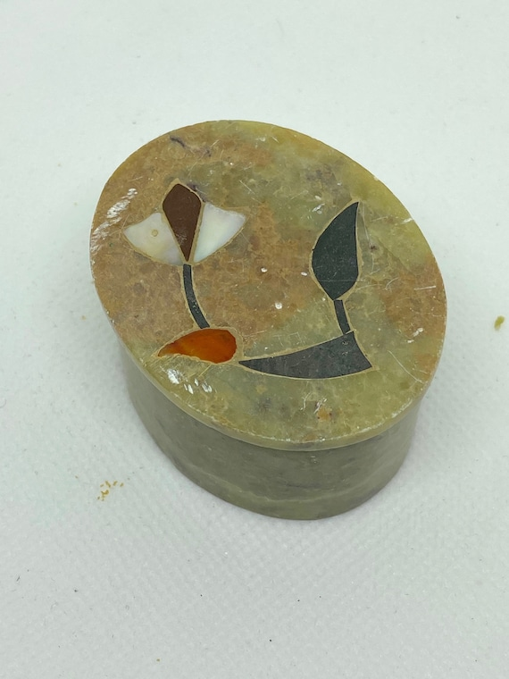 Pretty Marble Trinket Box Made in India