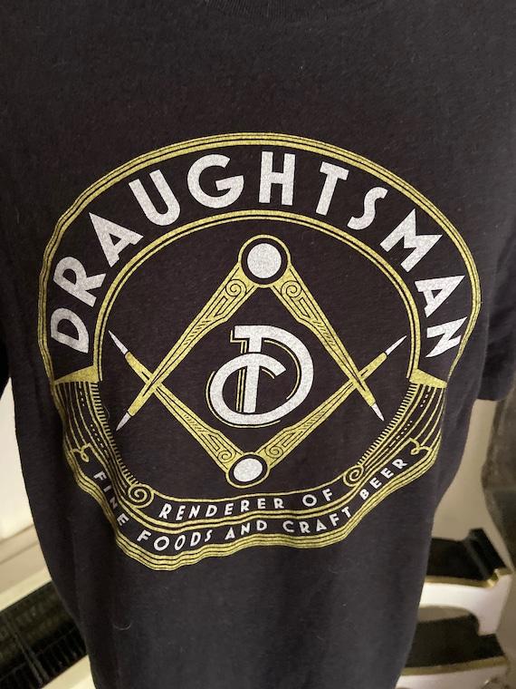 Draughtsman Craft Beer Tee T-Shirt Size Medium