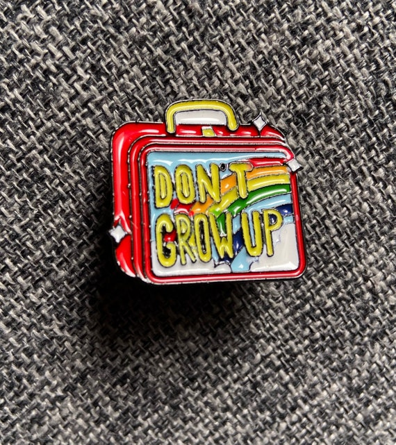 Don't Grow Up Lunchbox Rainbow Enamel Pin