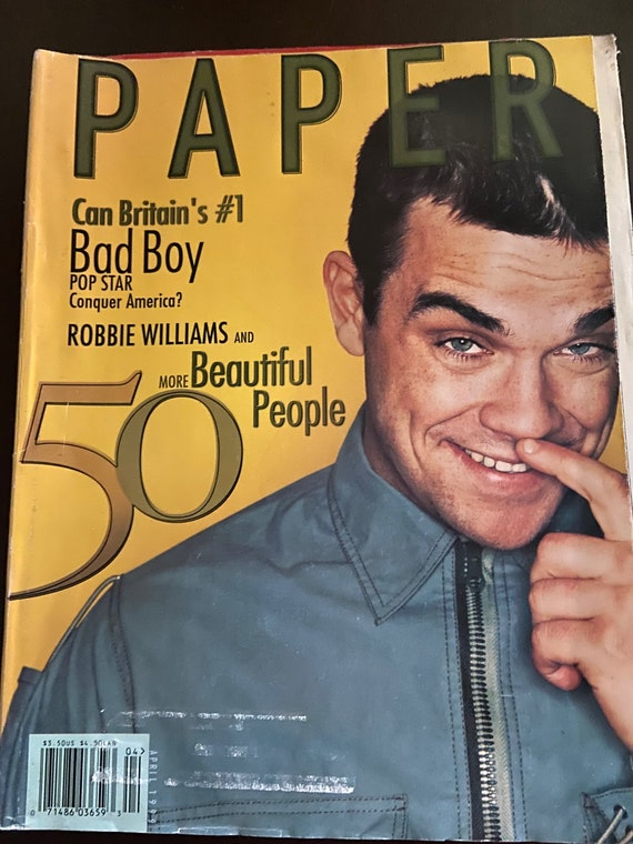 Collection of Robbie Williams Magazines from the 1990s