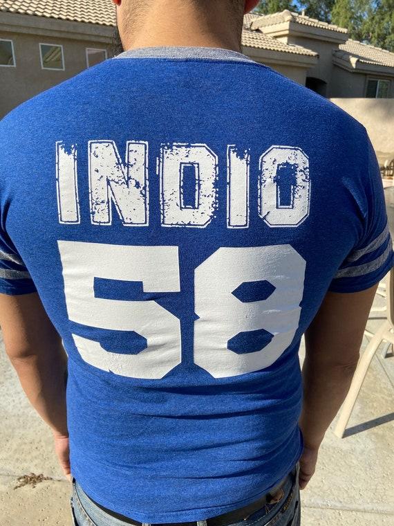 Royal Blue Indio Rajahs Tee T-Shirt Size M
