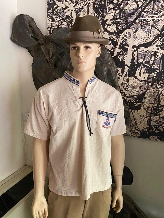 Men's Cotton Pullover Huatulco Mexico Shirt Size M