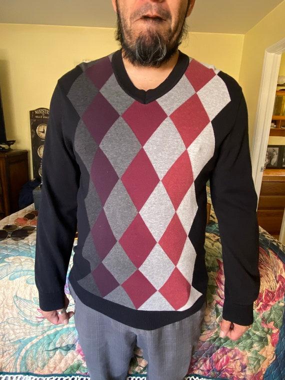 1990s Men's Vintage Claiborne V-Neck Sweater Sz m