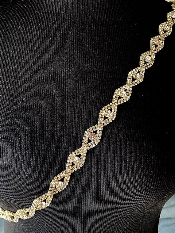 Pretty Rhinestone Diamante Chain Hip Belt