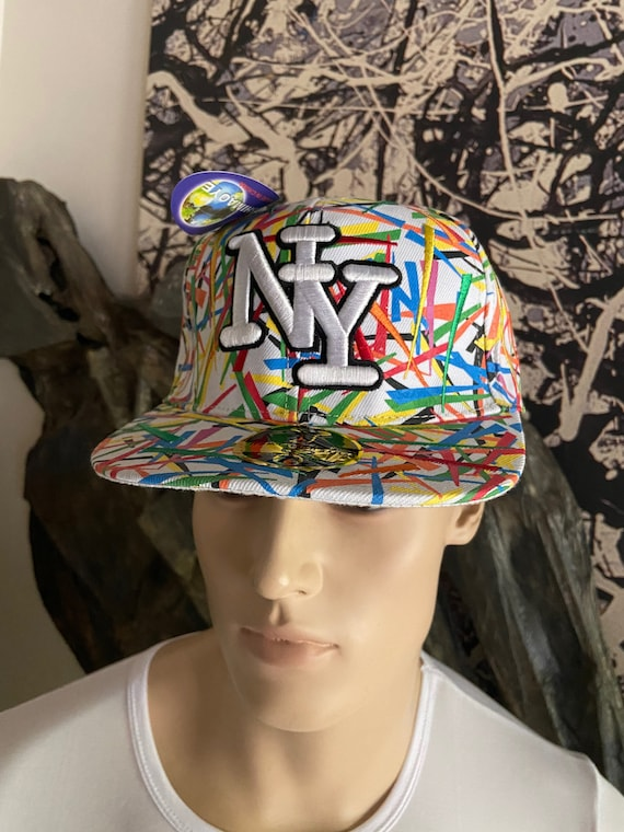 NY Neon Grafitti Fitted Cap