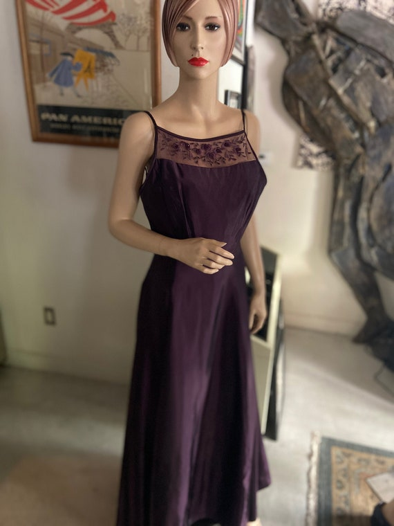 Gorgeous Plum Colored Y2K Gown from Scott McClinto