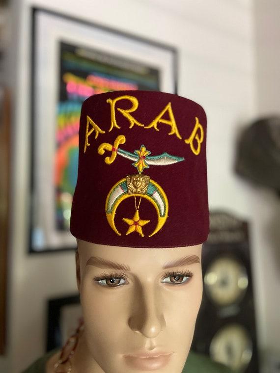 "Vintage Shriner Masonic ""ARAB"" Fez"