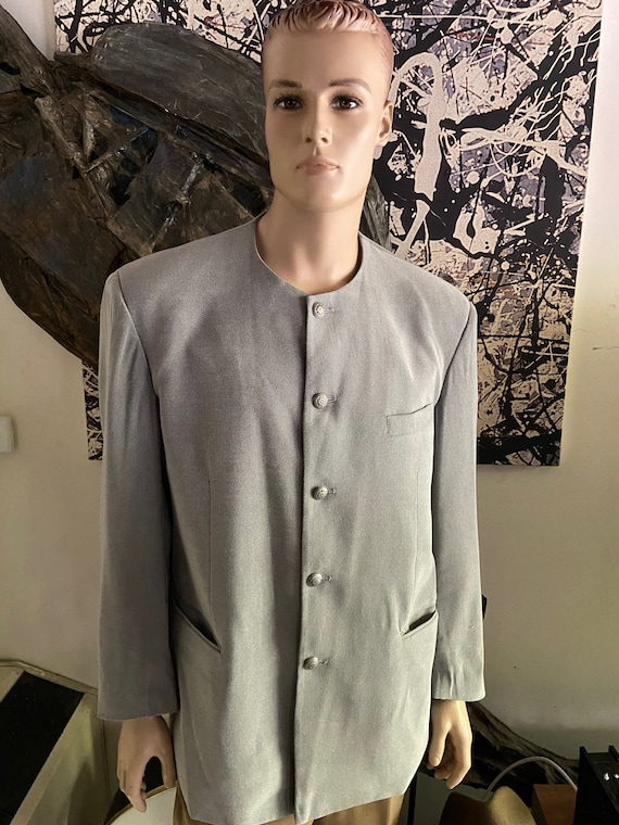 1990s Collarless Men's Pronti Blazer Size Large (46R)