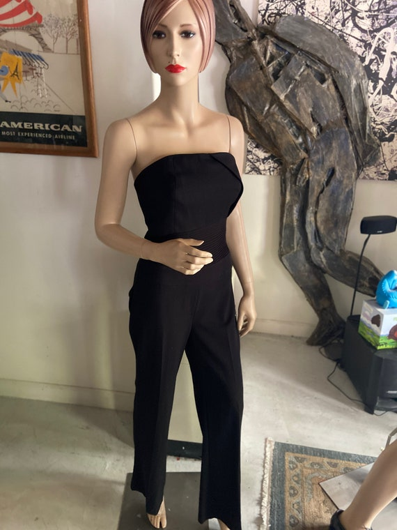 Sexy Black Strapless Padded Jumpsuit