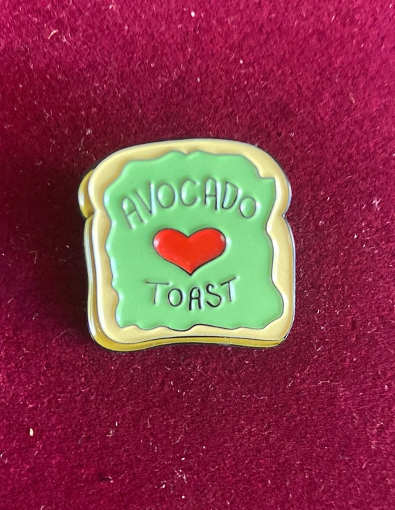 Cute Avocado Toast Enamel Pin Badge Brooch