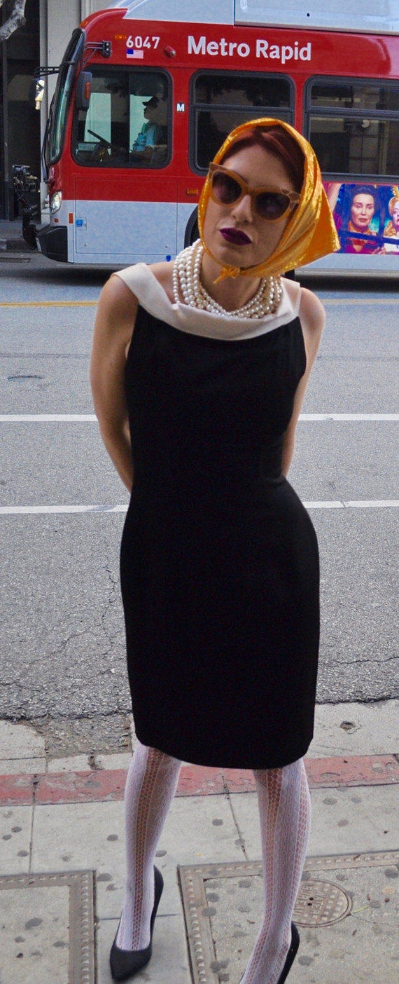 Rare Gorgeous 1980s Patrick Kelly Black and White Dress Sz 2