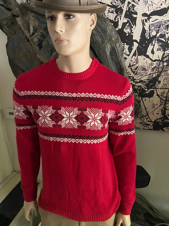 Cute Men's Christmas Holiday Sweater Size Medium