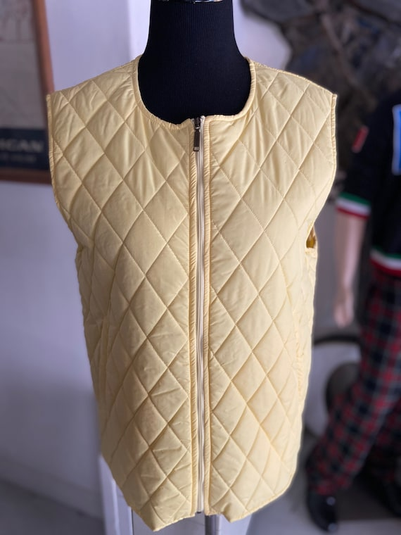 Max Mara Weekend Light Yellow Quilted Vest