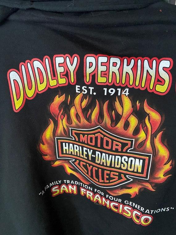 Dudley Perkins San Francisco Harley Davidson Zip-Up Hoodie Sz Large
