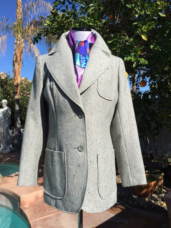 Vintage 60's Oleg Cassini Mod  Wool Blend Jacket and Vest.